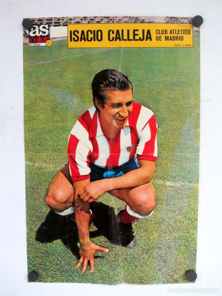 ISACIO CALLEJA. ATH. MADRID. POSTER DEL FUTBOLISTA DEL DIARIO AS 32X52CMS. (Coleccionismo Deportivo - Carteles de Fútbol)