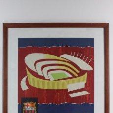 Coleccionismo deportivo: C-782 C.F.B. CLUB DE FUTBOL BARCELONA .INAUGURACION DEL ESTADIO .SEPTIEMBRE AÑO 1957.. Lote 140407438
