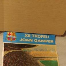 Coleccionismo deportivo: CARTEL XII TROFEU JOAN GAMPER ESTADI F. C. BARCELONA77/78 DANONE. Lote 140488162