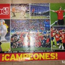 Coleccionismo deportivo: POSTER ESPAÑA CAMPEONES EUROCOPA 2008. Lote 147511364