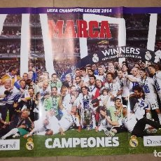 Coleccionismo deportivo: POSTER REAL MADRID CAMPEONES CHAMPIONS LEAGUE 2014. Lote 140521374