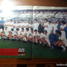 Coleccionismo deportivo: PÓSTER AS COLOR N°110. REAL MADRID 1973/74.. Lote 140783470