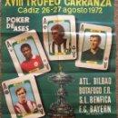 Coleccionismo deportivo: 1972 XVIII TROFEO CARRANZA. BENFICA, BAYERN, BOTAFOGO, ATH BILBAO. CARTEL. Lote 140833238