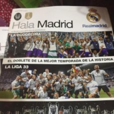 Coleccionismo deportivo: PÓSTERS Y 4 REVISTAS HALA MADRID. Lote 140379526