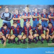 Coleccionismo deportivo: POSTER FUTBOL F.C. BARCELONA - CAMPEON DE LA LIGA 1984-85. Lote 140855698