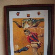 Coleccionismo deportivo: (F-181181)LITOGRAFIA DE JORDI ALUMA,FUNDACIO D´ANTICS JUGADORS DE FUTBOL F.C.BARCELONA. Lote 141292062