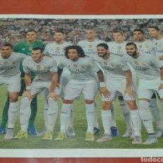 Coleccionismo deportivo: FOTO - CARTEL DEL REAL MADRID, 45 CM X 32 CM. Lote 141611598
