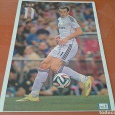 Coleccionismo deportivo: FOTO - CARTEL DEL JUGADOR DE FÚTBOL DEL REAL MADRID, BALE. Lote 141781356