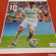 Coleccionismo deportivo: FOTO - CARTEL DEL JUGADOR DEL REAL MADRID, JAMES .TAMAÑO 45 CM X 32 CM. Lote 141872218