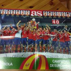 Coleccionismo deportivo: CARTEL POSTER GIGANTE AS CAMPEONES DE EUROPA ESPAÑA MUNDIAL IBERDROLA 2012. Lote 142763802