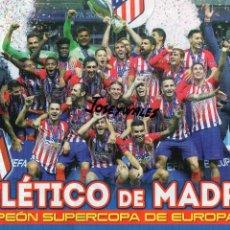 Coleccionismo deportivo: POSTER ALINEACION EQUIPO AT. MADRID CAMPEON SUPERCOPA EUROPA JUGON 2018 2019 18 19 TAMAÑO FOLIO. Lote 152018172