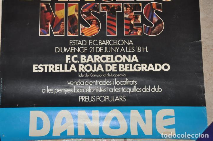 Coleccionismo deportivo: cartel partit homenatge penyes barcelonistes,f.c. barcelona 1981 - Foto 2 - 142891726