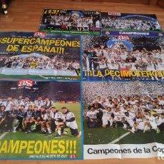 Coleccionismo deportivo: POSTER-6 UNIDADES- DEL REAL MADRID-4 DE ELLOS MIDE 83X60 Y LOS OTROS 2 POSTER 42X60, -BUEN ESTADO,. Lote 143181818