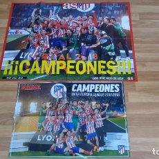 Coleccionismo deportivo: POSTER-2- DEL ATLETI -81X60-41X60-MUY BUEN ESTADO-. Lote 143183494