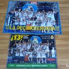 Coleccionismo deportivo: POSTER-2-REAL MADRID-MEDIDAS-83X60-41X60-BUEN ESTADO. Lote 143185870