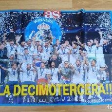 Coleccionismo deportivo: POSTER REAL MADRID-83X60, MUY BUEN ESTADO, . Lote 143196582