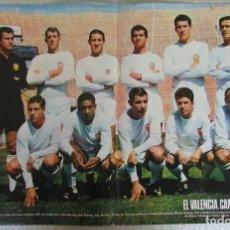 Coleccionismo deportivo: PÓSTER ACTUALIDAD ESPAÑOLA VALENCIA C.F CAMPEONES DE LA COPA DEL GENERALISIMO 1967 52 X 34 CM. Lote 143261590