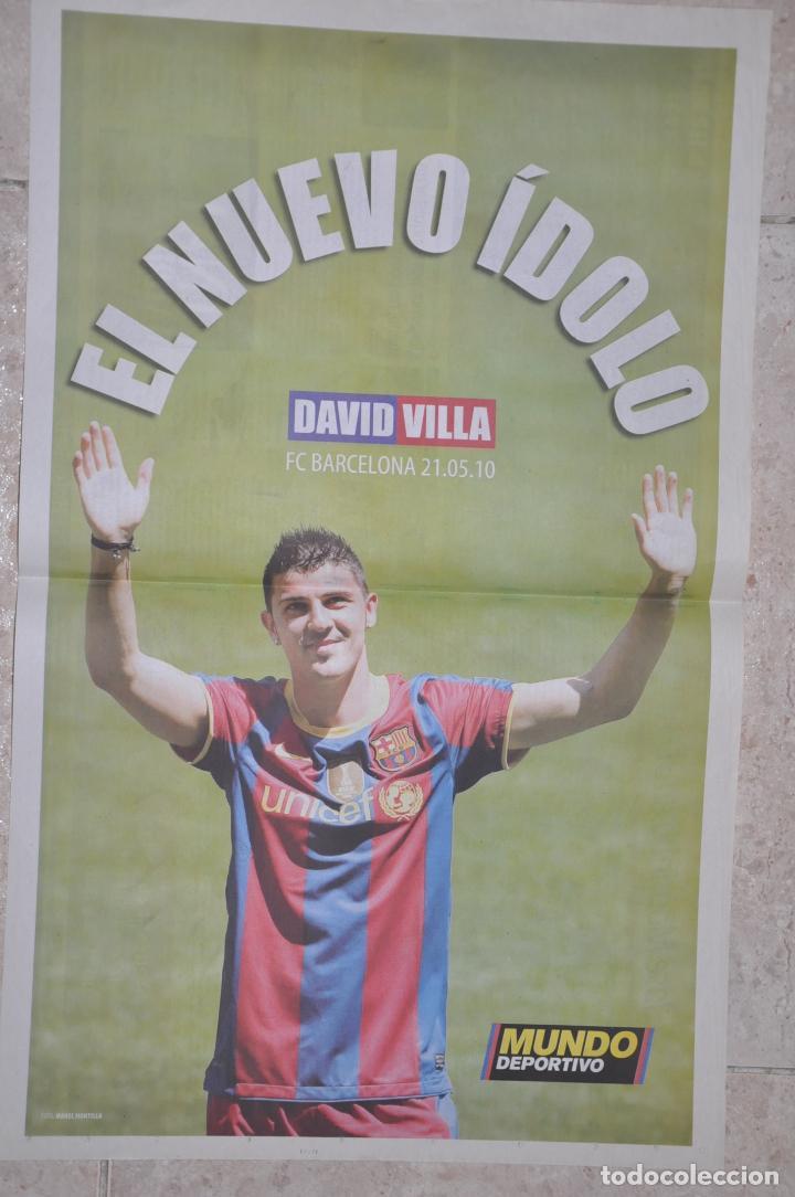POSTER DAVID VILLA, F.C. BARCELONA 21/05/2010 (Coleccionismo Deportivo - Carteles de Fútbol)