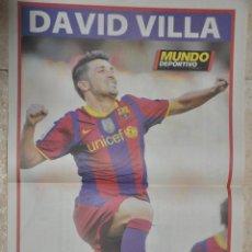 Coleccionismo deportivo: POSTER DAVID VILLA, F.C. BARCELONA 2010/2011. Lote 143436514
