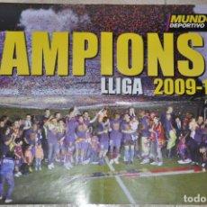 Coleccionismo deportivo: POSTER F. C. BARCELONA CAMPIONS LLIGA 2009/2010. Lote 143439290
