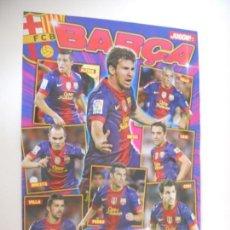 Coleccionismo deportivo: DOBLE POSTER MESSI FC BARCELONA SERGIO RAMOS REAL MADRID JUGON 2012 2013 12 13 TAMAÑO X2 FOLIO. Lote 161587558