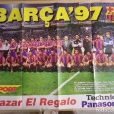 Coleccionismo deportivo: POSTER BARÇA 97 1997 PLANTILLA SPORT FC BARCELONA. Lote 143810094