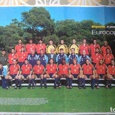 Coleccionismo deportivo: POSTER SELECCION ESPAÑOLA EUROCOPA AÑO 2000 CAMACHO. Lote 143871822