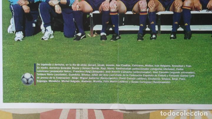 Coleccionismo deportivo: POSTER SELECCION ESPAÑOLA EUROCOPA AÑO 2000 CAMACHO - Foto 2 - 143871822