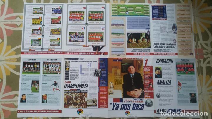 Coleccionismo deportivo: POSTER SELECCION ESPAÑOLA EUROCOPA AÑO 2000 CAMACHO - Foto 3 - 143871822