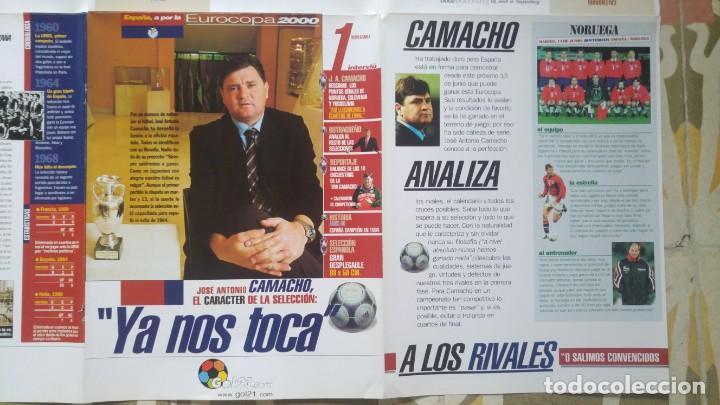 Coleccionismo deportivo: POSTER SELECCION ESPAÑOLA EUROCOPA AÑO 2000 CAMACHO - Foto 4 - 143871822