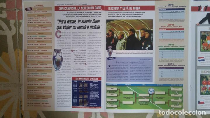 Coleccionismo deportivo: POSTER SELECCION ESPAÑOLA EUROCOPA AÑO 2000 CAMACHO - Foto 5 - 143871822