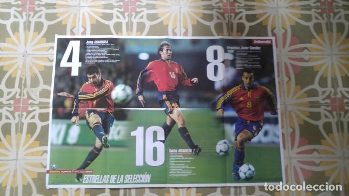 POSTER EUROCOPA 2000 ESTRELLAS DE LA SELECCION PEP GUARDIOLA GAIZKCA MENDIETA FRAN JAVIER GONZALEZ (Coleccionismo Deportivo - Carteles de Fútbol)