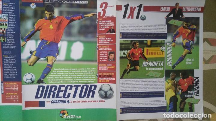 Coleccionismo deportivo: POSTER EUROCOPA 2000 ESTRELLAS DE LA SELECCION PEP GUARDIOLA GAIZKCA MENDIETA FRAN JAVIER GONZALEZ - Foto 3 - 143872878