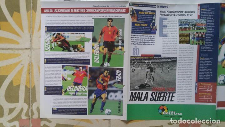 Coleccionismo deportivo: POSTER EUROCOPA 2000 ESTRELLAS DE LA SELECCION PEP GUARDIOLA GAIZKCA MENDIETA FRAN JAVIER GONZALEZ - Foto 4 - 143872878