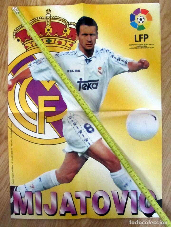 POSTER GOLOSINAS VIDAL MIJATOVIC REAL MADRID TEMPORADA 1996-97 CHICLES (Coleccionismo Deportivo - Carteles de Fútbol)