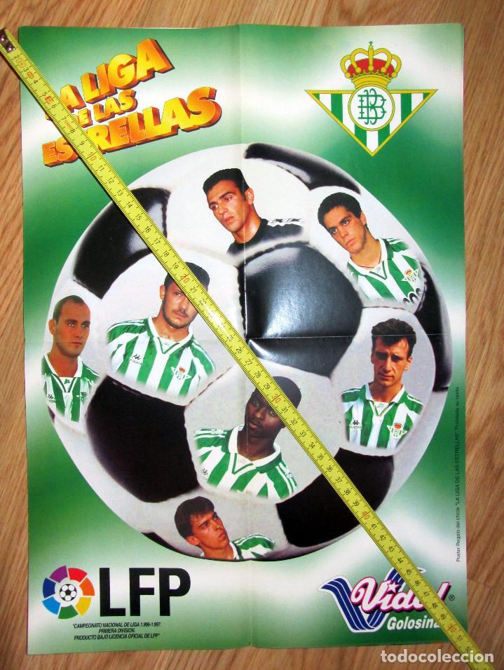 POSTER GOLOSINAS VIDAL REAL BETIS TEMPORADA 1996-97 CHICLES (Coleccionismo Deportivo - Carteles de Fútbol)
