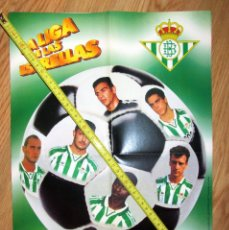 Coleccionismo deportivo: POSTER GOLOSINAS VIDAL REAL BETIS TEMPORADA 1996-97 CHICLES. Lote 143932418
