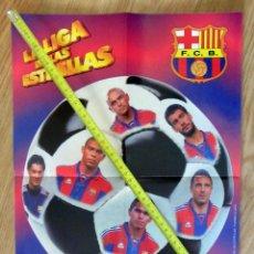 Coleccionismo deportivo: POSTER GOLOSINAS VIDAL F.C. BARCELONA BARÇA TEMPORADA 1996-97 CHICLES. Lote 143932490