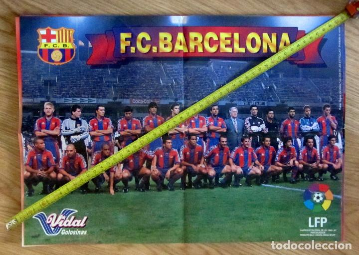 POSTER GOLOSINAS VIDAL F.C. BARCELONA BARÇA TEMPORADA 1996-97 CHICLES (Coleccionismo Deportivo - Carteles de Fútbol)