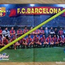 Coleccionismo deportivo: POSTER GOLOSINAS VIDAL F.C. BARCELONA BARÇA TEMPORADA 1996-97 CHICLES. Lote 143932738