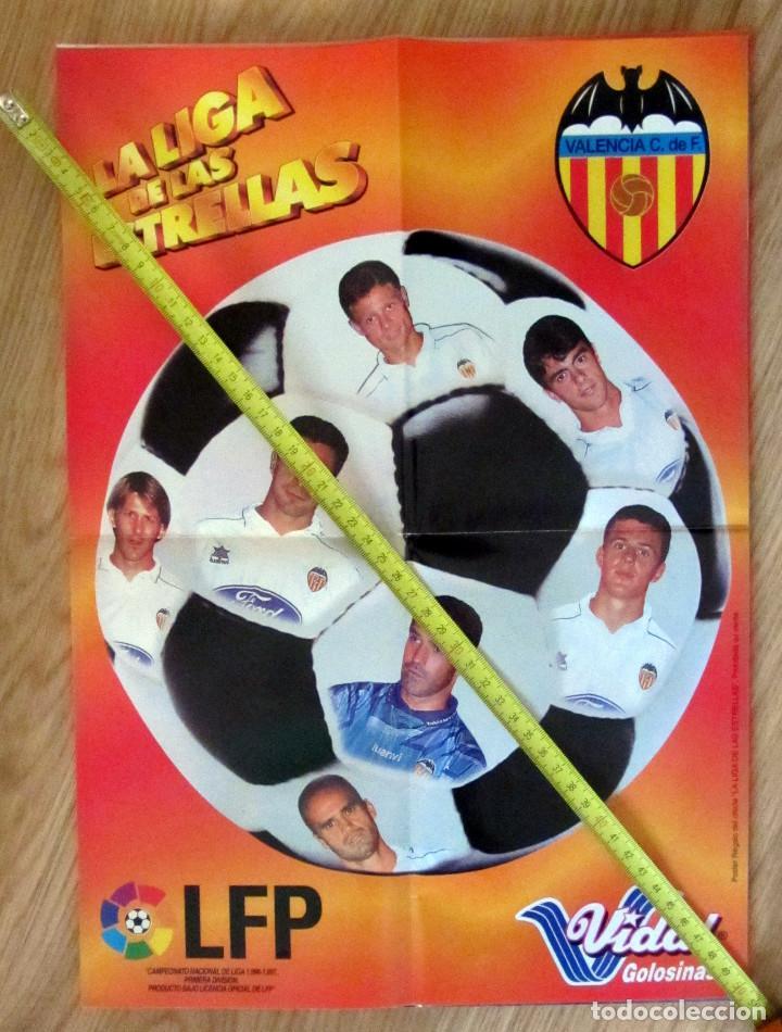 POSTER GOLOSINAS VIDAL VALENCIA CF TEMPORADA 1996-97 CHICLES (Coleccionismo Deportivo - Carteles de Fútbol)