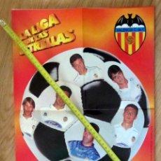 Coleccionismo deportivo: POSTER GOLOSINAS VIDAL VALENCIA CF TEMPORADA 1996-97 CHICLES. Lote 143932802