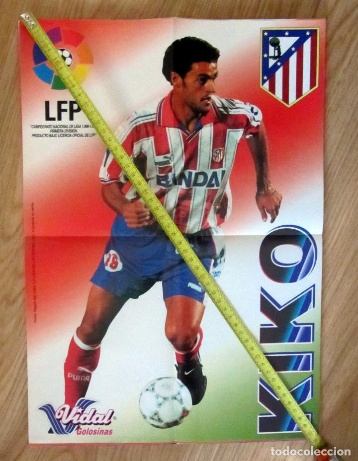 POSTER GOLOSINAS VIDAL KIKO ATLETICO DE MADRID TEMPORADA 1996-97 CHICLES (Coleccionismo Deportivo - Carteles de Fútbol)