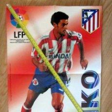 Coleccionismo deportivo: POSTER GOLOSINAS VIDAL KIKO ATLETICO DE MADRID TEMPORADA 1996-97 CHICLES. Lote 184676248