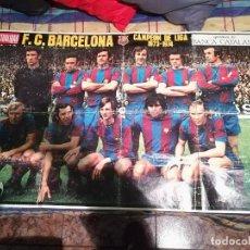Coleccionismo deportivo: ESPECTACULAR POSTER DEL F.C BARCELONA.CAMPEON DE LA LIGA 1973-74. Lote 144032470