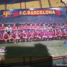 Coleccionismo deportivo: POSTER DE F.C BARCELONA DE LA TEMPORADA 1996-97 (VIDAL GOLOSINAS). Lote 144033814