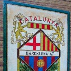 Coleccionismo deportivo: CARTEL FUTBOL CATALUNYA BARCELONA AT. .1970. . Lote 144356326