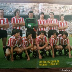 Coleccionismo deportivo: POSTER PLANTILLA ATHLETIC CLUB DE BILBAO 1980-1981 80/81.AS COLOR. Lote 144829472