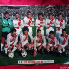 Coleccionismo deportivo: POSTER A. D. RAYO VALLECANO 1980 - 1981 80-81 AS COLOR PÓSTER. Lote 145254193