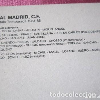 Coleccionismo deportivo: CARTEL REAL MADRID CON FIRMAS JUGADORES LIGA 84 85. - Foto 4 - 145934938